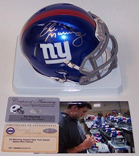 Eli Manning Autographed Hand Signed NY New York Speed Mini Helmet