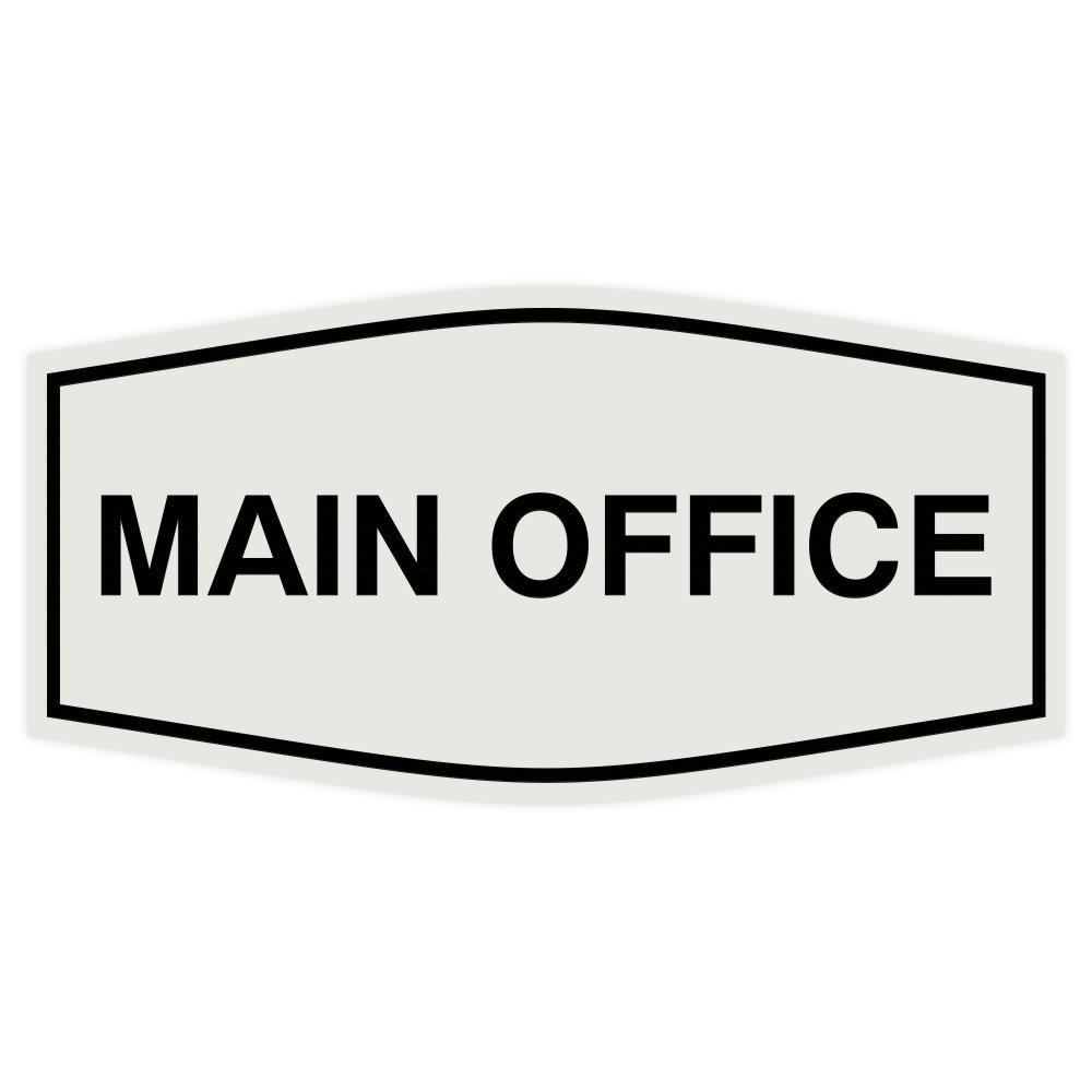 Fancy Main Office Sign (Light Grey/Black) - Large