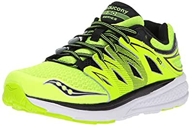 Saucony Boys' Zealot 2 Running Shoe, Citron/Black, 4 Medium US Big Kid