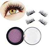 QrBxa Magnetic Eyelashes Ultra-thin Fake False Lashes 1 Pair 4 Pieces 0.2mm Ultra Thin Fake Mink Eyelashes Reusable Best Fake Lashes for Natural Look Cruelty Free No Glue Required