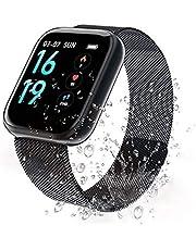 2020 Cadeau parfait pour la Saint-Valentin Fitness Tracker Cardiofréquencemètre, 2020 Neuf Smart Watch Moniteur d'Activité Etanche IP68 et Compteur de Sommeil avec 2 Bracelets Interchangeables pour Hommes et Femmes #Z1