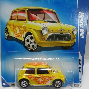 Hot Wheels 2009 Morris Mini Heat Fleet 124/190 YELLOW 1:64 Scale