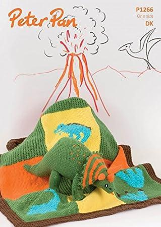Peter Pan Baby Decke & Dinosaurier Spielzeug Strickmuster 1266 DK + ...