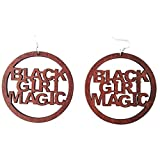 black magic ring - Black Girl Magic Earrings / Natural Hair / African American Woman Earring / Wood Jewelry (Brown)