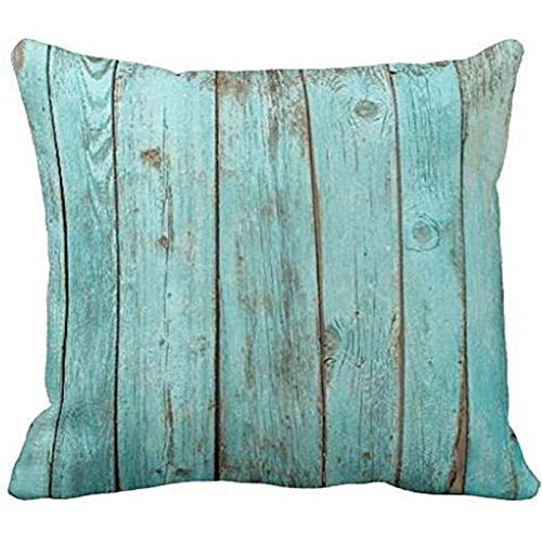 Turquoise Wood Teal Barn Wood Weathered Beach Polyester Pill