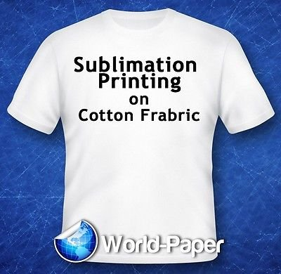 Sublimation Printing for Light Cotton Fabric (Yellow Line Heat Transfer Paper) 8.5'' x 11'' - 50 Sheets by QLC