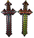 Inflatable Blow Up Diamond Patterned Sword - Ages 3+