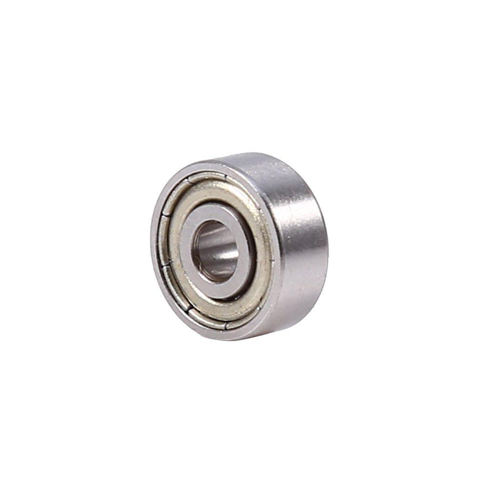 10pcs 623ZZ Cuscinetto a sfere a gola profonda con cuscinetto in acciaio al cromo-carbonio schermato con tenute metriche 3x10x4mm Hilitand