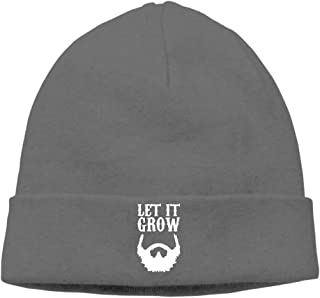 ASKYE Men Let It Grow Beard Soft Street Dance DeepHeather Beanies Skull cap