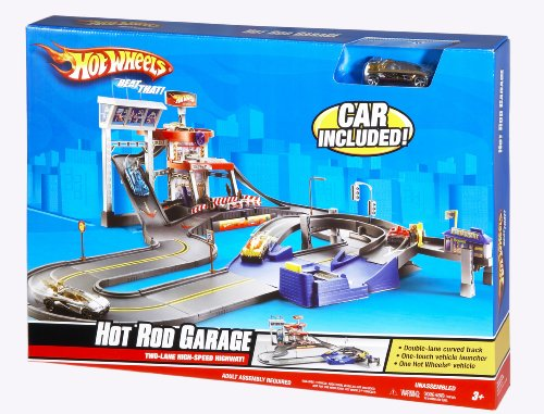 - Hot Wheels Deluxe City Hot Rod Garage Playset