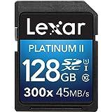 Lexar Platinum II 300x SDXC 128GB UHS-I/U1 (Up to 45MB/S Read) Flash Memory Card-LSD128BBNL300