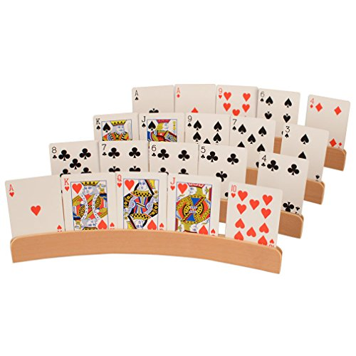 Wooden Playing Card Holders - 1
