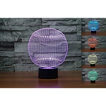 Led Lamps New Person Customized 7 Color 3d Vision Stereo Desk Lamp Running Sports Image Modeling Lighting Table Lamp