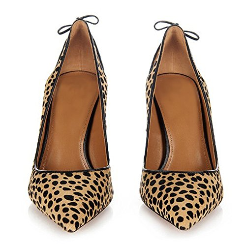 Sandaalit Ybeauty Korkokengät Marginaalisia Pumput Leopardi Kengät Naisten Korkokenkiä Teräväkärkiset Louferi Pukeutua r10Fr8q