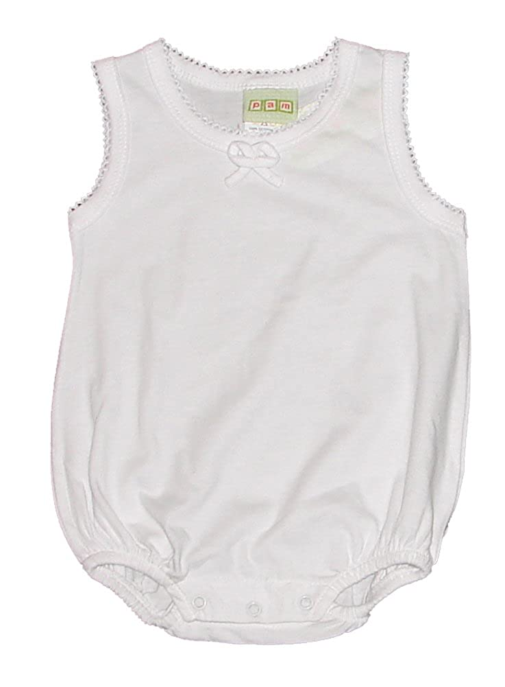 PAM Baby girls tank bodysuit 100% cotton 1614