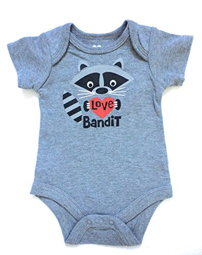 Assorted Love & Heart Boys' & Girls' Valentine's Day Bodysuit Dress Up Outfit (12 Months, Love Bandit)