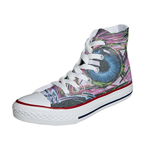 Adulte Street chaussures Customized artisanal Eyes coutume Converse produit 5wBF7Bx