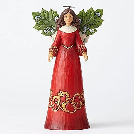 Enesco Jim Shore Heartwood Creek Angel with Holly Leaf Wings Figurine 4053719
