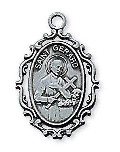 (Adult Pewter St. Gerard Medal Necklace, 18
