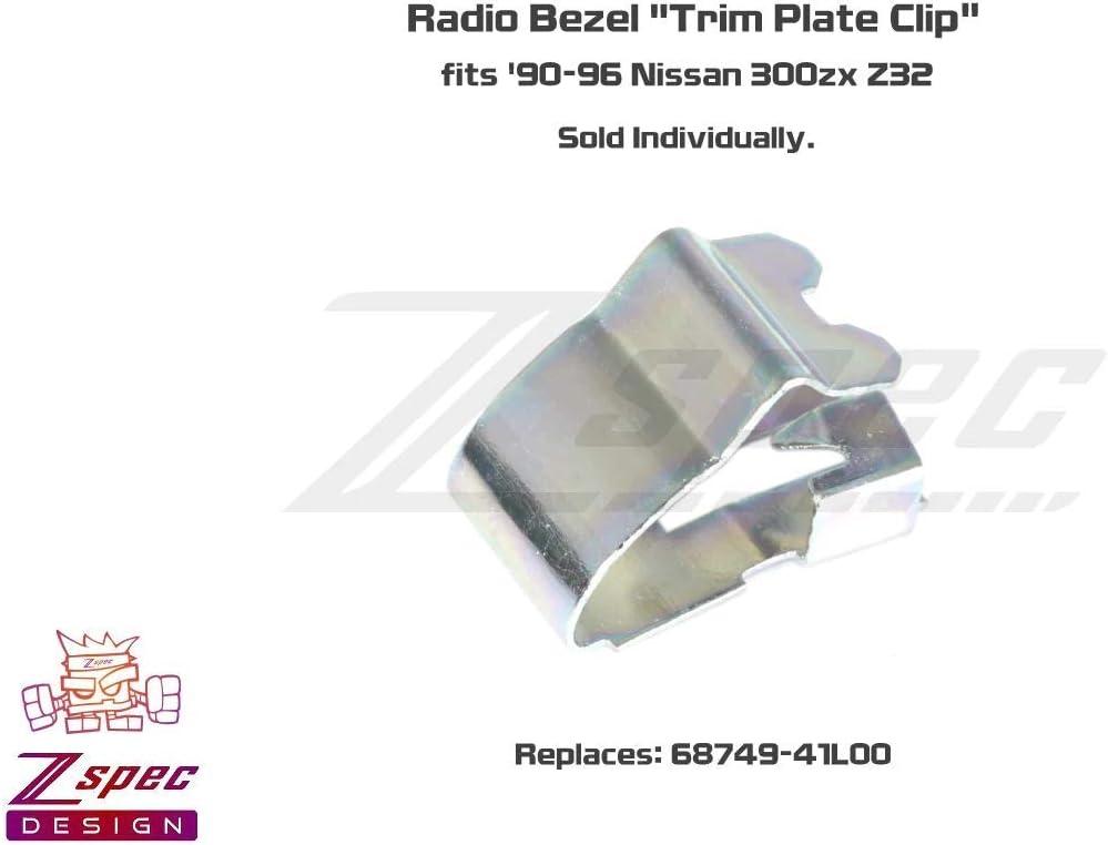 ZSPEC Design Radio Bezel Trim Plate Clip Sold Per Each Replaces 68749-41L00 fits 90-96 Nissan 300zx Z32
