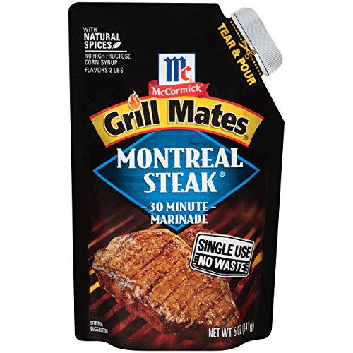 McCormick Grill Mates Montreal Steak Single Use Marinade, 5 oz (Pack of 6)