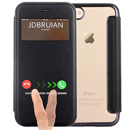 iPhone 7 Plus Case, 7 Plus Flip Cover, JDBRUIAN [Touch Series][Folio Style]...