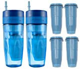 ZeroWater 26oz Portable Filtration Tumbler and 4-Pack Tumbler Replacement Filters - ZT-M02