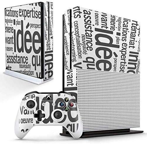 igsticker Xbox One S 専用 スキンシール 正面・天面・底面・コントローラー 全面セット エックスボックス シール 保護 フィルム ステッカー 006553