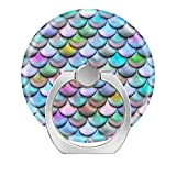 Pop Phone Ring Stand Holder 360° Rotation Reusable Ring Holder Finger Grip Universal socket Kickstand for iPhone X 6 6s 7 7 8 Plus Galaxy S8 S7 Edge - Shiny glossy pearlescent colorful mermaid scales