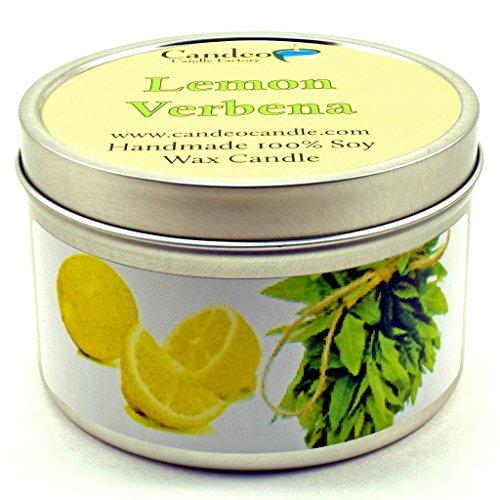 Lemon Verbena, Super Scented Soy Candle Tin (6 oz) -
