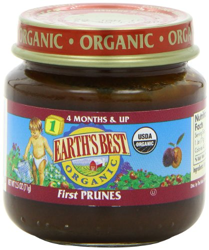 earth 39 s best organic stage 1 baby food prunes 2 5 ounce import it all. Black Bedroom Furniture Sets. Home Design Ideas
