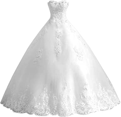 HUINI Robe de Mariée Bustier Princesse Robe
