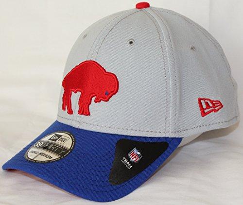 Buffalo Bills New Era NFL 39THIRTY Throwback Logo Gray Neo Flex Fit Hat New Era Cap Buffalo