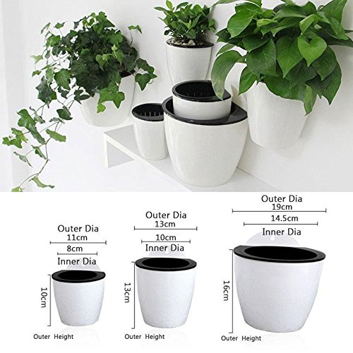 Labu Store Self-Watering Flower Pot Wall Hanging Planter Strong Durable Home Creative