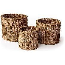 Napa Home U0026 Garden Seagrass Small Round Baskets, ...
