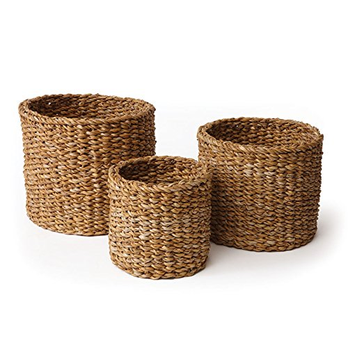 Napa Home & Garden Seagrass Small Round Baskets, Set of 3 from Napa Home & Garden