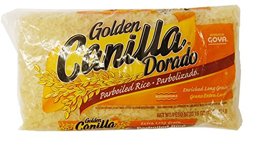 Goya Golden Canilla Long Grain Enriched Parboiled Rice, 1 lb, Dorado Parbolizado de Grano Extra Largo ()