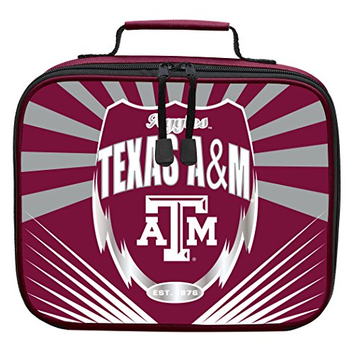 Lunch Aggies - The Northwest Company Officially Licensed NCAA Texas A&M Aggies Lightning Kids Lunch Kit, Red