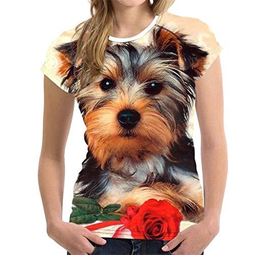 Keliay Womens Tops, Unisex Funny 3D Print Animal Summer Short Sleeve T-Shirts Top Blouse