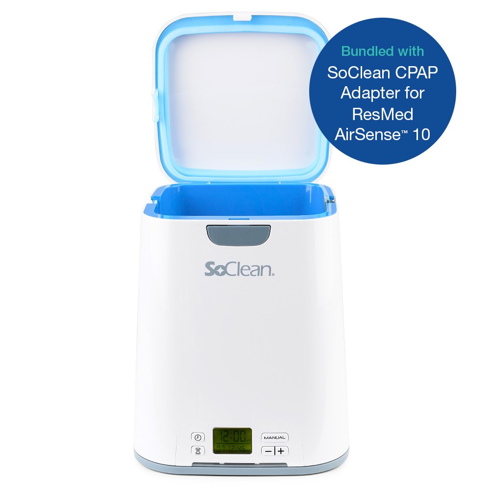 SoClean 2 + ResMed AirSense 10 Adapter (SoClean 2 CPAP Cleaner and Sanitizer Bundle with Free Adapter)