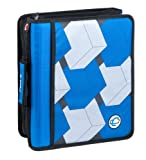 Case-It Z-Binder Two-in-One 1.5-Inch D-Ring Zipper Binder, Blue Print (Z-175-BLU-P)