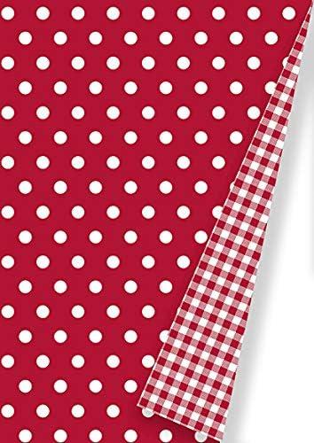 Breite 50cm Geschenkpapier Rot Wei/ß gepunktet 60913 16.60913-65-1 50m lang