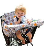 "Lumiere Shopping Cart Cover for Baby & Toddler - ""Roll-in"" Stylish Pouch, 360 Germ Protection, Entertainment Within Reach (Modern Polka Dots)"