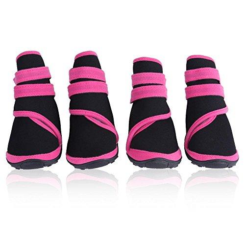 Botas de perro 4Pcs, impermeables protectores de pata Zapatos de mascota perrito de invierno cálido calzado protector con...