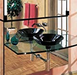 Robern MPS24HD8 24'' Wide Shelf for use with 8'' Deep cabinets combined with 3.5 lights and a mirror