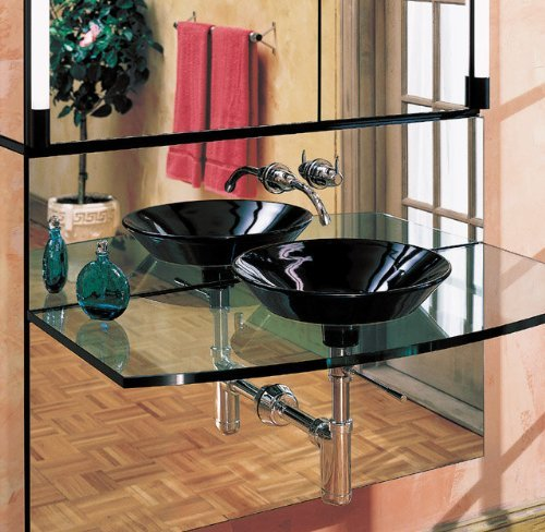 Robern MPS16HD8 16'' Wide Shelf for use with 8'' Deep cabinets combined with 3.5 lights and a mirror by Robern