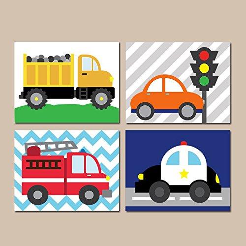 TRANSPORTATION Wall Art City Vehicles Theme CARS Nursery