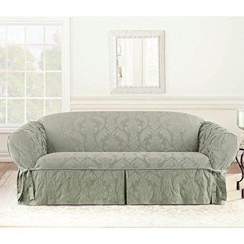 - Sure Fit Matelasse Damask Sofa Cover