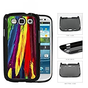 Bright Colorful Rainbow Feathers Pattern Hard Snap on Phone Case Cover Samsung Galaxy S3 I9300