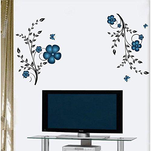 Decals Design 'Flowers' Wall Sticker (PVC Vinyl, 50 cm x 70 cm)